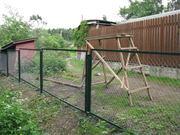 Секции заборные от производителя с сеткой или прутьями